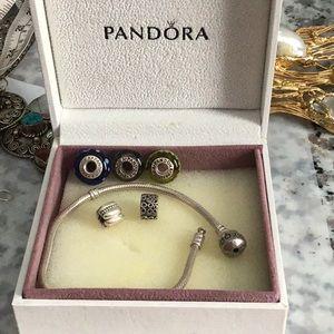 Pandora bracelet w/ Beads